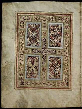 St. Gall Gospel Book - Image: St. Gall Gospels Cod.Sang.51 p.6 Carpet page