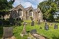 St Gwynhoedl's Church, Llangwnnadl, east side and church yard.jpg