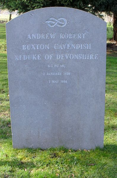 File:St Peter's Churchyard, Edensor - grave of Andrew Cavendish, 11th Duke of Devonshire.JPG