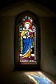 Stained Glass Window In St Peters Church Old Woking Surrey UK.jpg