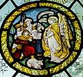 Stained glass window, St Peter's church, Firle, Sussex (16952314186).jpg