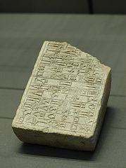 stamping mold for the foundation bricks of the temple of the Sun-God Utu in Larsa