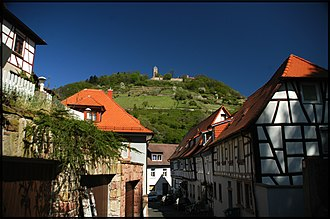 Starkenburg - View of Starkenburg Castle from Heppenheim