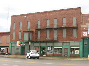 Mattoon, Illinois - Starr Hotel, built in 1888 and listed on the National Register of Historic Places