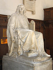 Statue of Isaac Barrow in the chapel of Trinity College, Cambridge