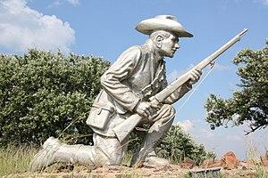 Daniel Theron - Refurbished statue of Daniel Theron at Fort Schanskop, Pretoria, South Africa