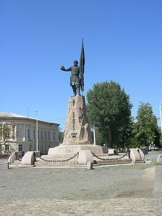 Yermak Timofeyevich - Statue of Yermak in Novocherkassk
