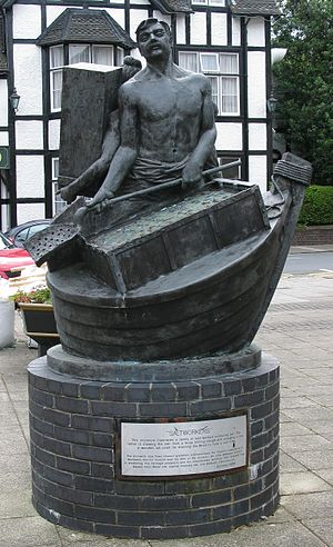 Droitwich Spa - Saltworkers by British sculptor John McKenna in the town centre.