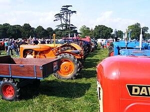 Grand Henham Steam Rally - Some of the many tractors at the 2008 Henham Steam Rally