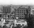 Stimson Block, 3rd Street and Bradbury Building, seen from Olive Street on Bunker Hill, Los Angeles, c.1893-1900.jpg
