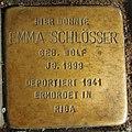 Stolperstein Ahaus Wallstraße 3 Emma Schlösser.jpg