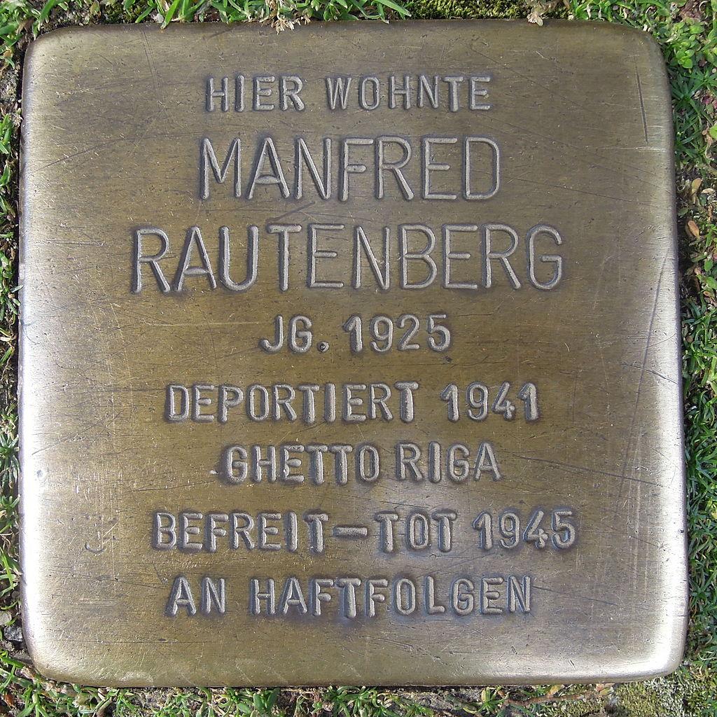 Stolperstein für Manfred Rautenberg