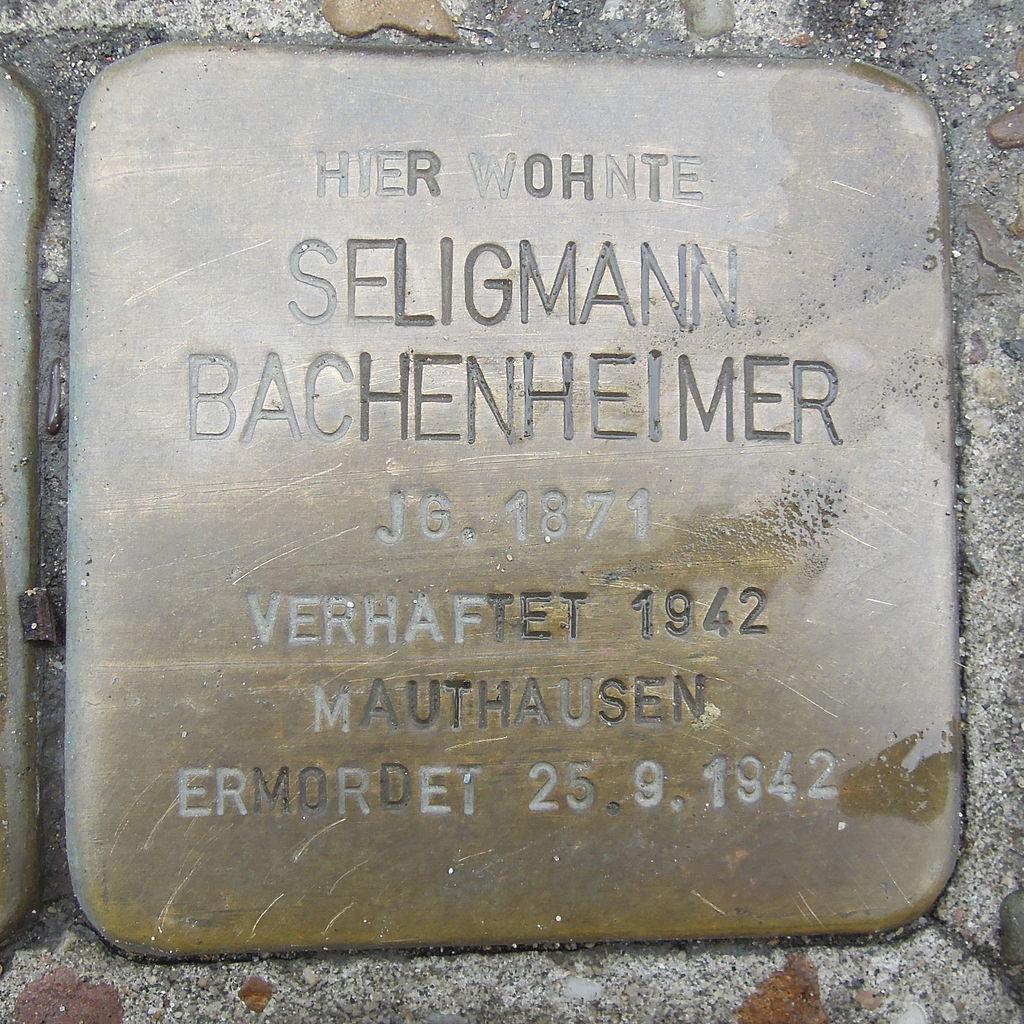 Stolperstein Bad Camberg Frankfurter Str. 8 Seligmann Bachenheimer.jpg