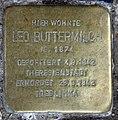 Stolperstein Damaschkestr 30 (Charl) Leo Buttermilch.jpg