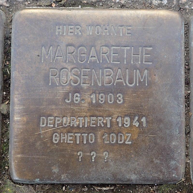 Stolperstein Duderstadt Marktstraße 37 Margarethe Rosenbaum.jpg