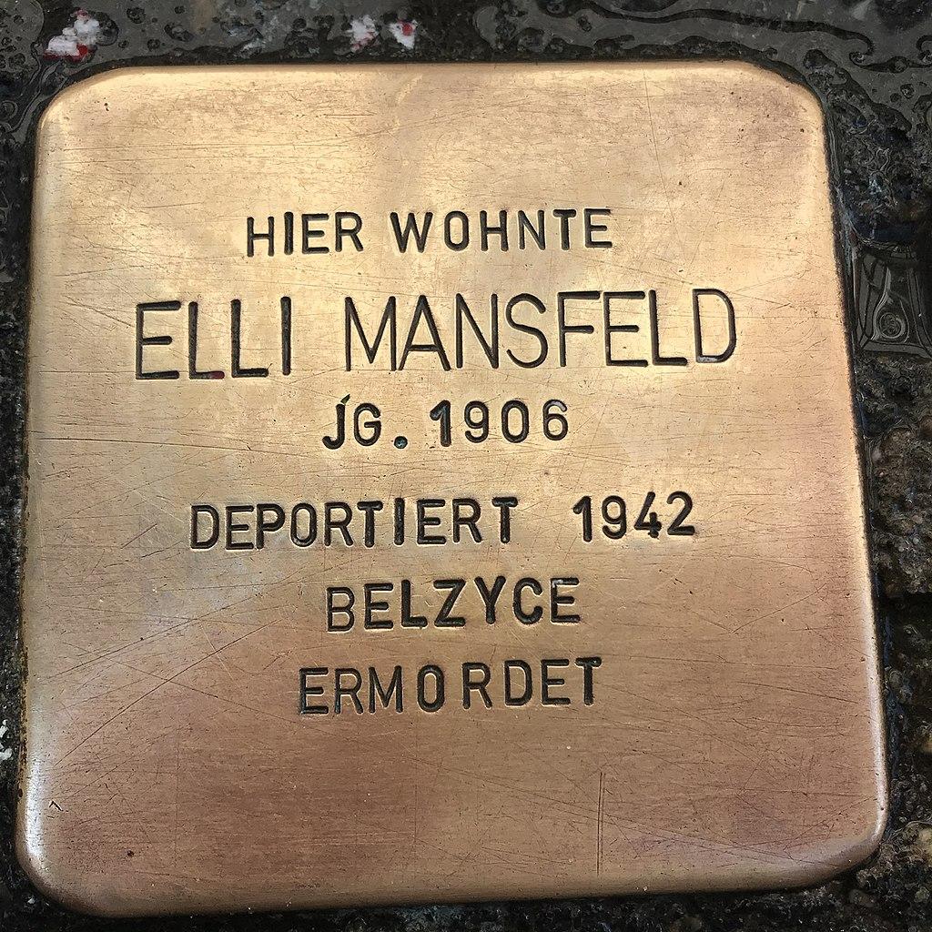 Stolperstein Elli Mansfeld in Lüchow (Wendland).jpg