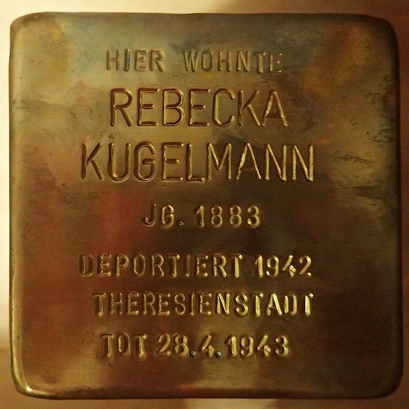 Stolperstein für Rebecka Kugelmann