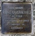 Stolperstein Nansenstr 18 (Neuk) Elias Radsanowicz.jpg