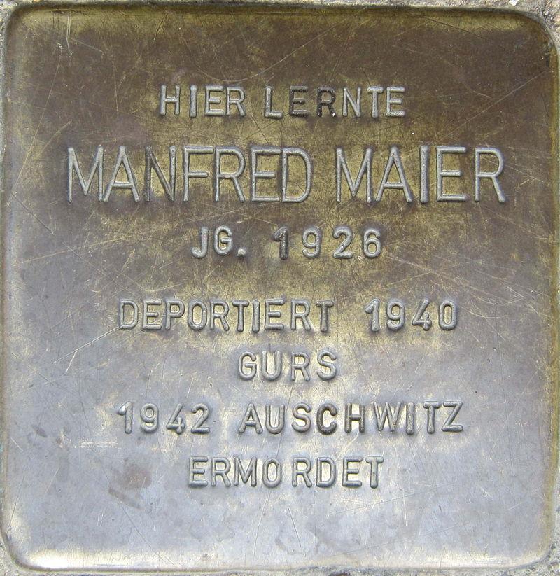 Stolperstein Pforzheim Maier Manfred.jpeg