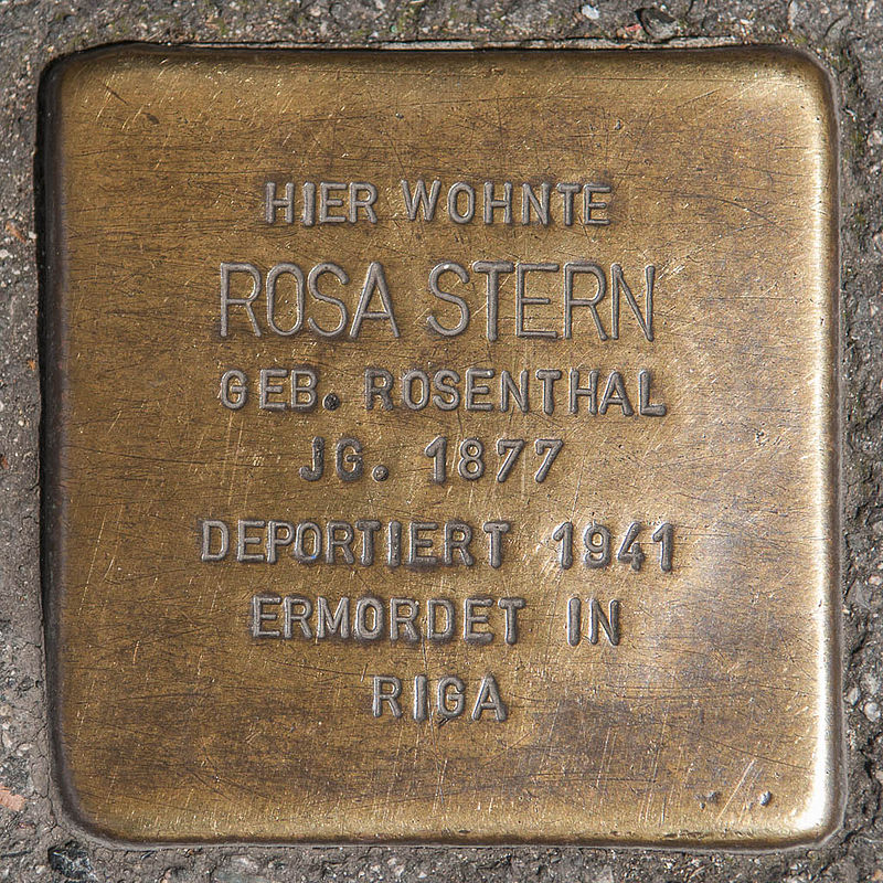 Stolperstein Rosa Stern by 2eight 3SC1319.jpg