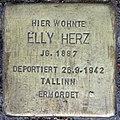 Stolperstein Stierstr 19 (Fried) Elly Herz.jpg