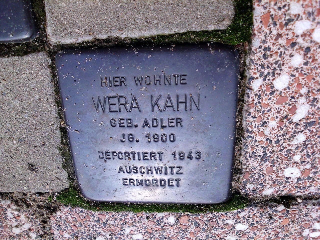 Stolperstein Wera Kahn.JPG