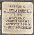 Stolperstein für Wilhelm Knöchel, Wilhelmstraße 26, Offenbach am Main, Hesse, Deutschland - 20110213 (cropped).jpg