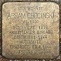 Stumbling block for Abram Chocinski (Alexianerstraße 3)