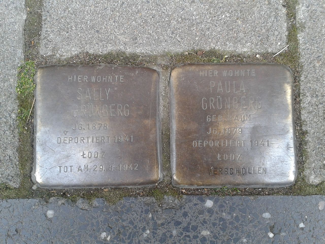 Stolpersteine Köln Reischplatz 1
