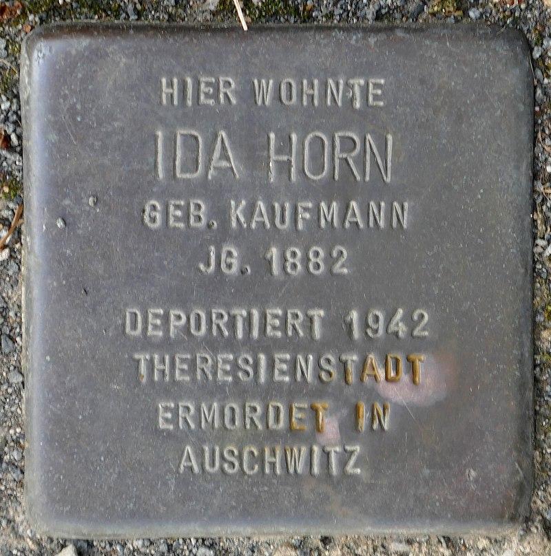 Stolpersteine Kommern, Ida Horn (Kölner Straße 11).jpg