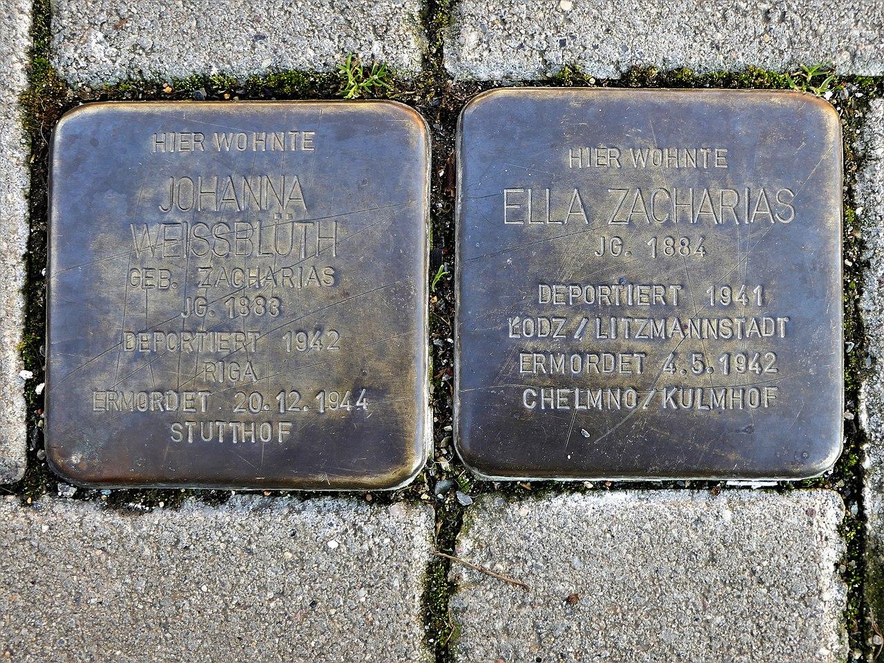 Stolpersteine für Familie Zacharias, Fronstrasse 9, Döbeln.JPG