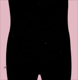 رسم تخطيطي للجزء الأسفل من الجهاز الهضمي