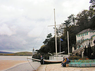 "The Village (The Prisoner) - The Stone Boat located in front of the Village's ""Old People's Home"" (in real life the Hotel Portmeirion)"