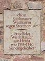 Storchenturm Eisenach - Gedenktafel Fritz Erbe 3.JPG