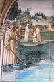 Storie di s. benedetto, 15 sodoma - Come Benedetto fa tornare nel manico uno roncone che era caduto nel fondo di un lago 02.JPG