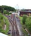 Strašnice, trať od opravárenské základny metra kolem depa Hostivař.jpg