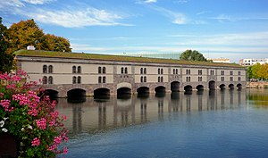 Barrage Vauban - The downstream side of the barrage after restoration in 2012