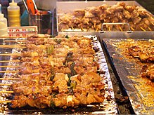 Street Food - Chicken skewers - Dakkochi (닭꼬치) (10585858164).jpg
