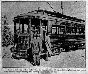 Streetcars in Atlanta - Atlanta streetcar, 1910. Pay-as-you-enter cars were being introduced at the time