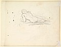 "Study for a Male Figure in ""Comus–The Measure"" (recto); Reclining Male Nude (verso) MET DP829489.jpg"