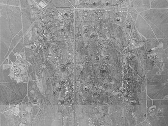 Subsidence crater - Image: Subsidence craters at the nevada test site
