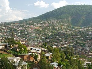 Kigali - Mount Kigali and one of the northern suburbs