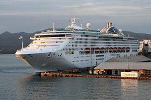 Sun Princess - Sun Princess docked at the Kings Wharf, Suva, Fiji Islands
