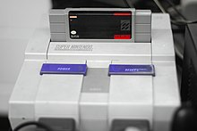 Super Mario World cassette on Super Nintendo Entertainment System 20080610