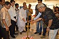 Susanta Banerjee Lighting Inaugural Lamp - Group Exhibition - PAD - Kolkata 2016-07-29 5369.JPG