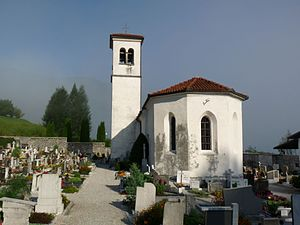Most na Soči - Saint Maurus's Church at the cemetery in Most na Soči