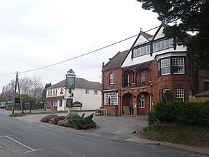 Sway, Hampshire - Image: Sway Forest Heath Hotel and the post office geograph.org.uk 1184198