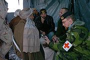 Swedish medic in Afghanistan 2006