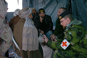 Combat medic - Swedish Army medic in Afghanistan, 2006