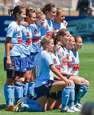 Sydney FC (W-League) - The Sydney FC W-League team before the 2009 Grand Final